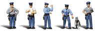 Woodland Scenics O Scale Scenic Accents Figures/People Policemen/Canine Cop (6)