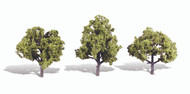"Woodland Scenics Classic Trees Ready Made Early Light 4"" to 5"" Tall 3-Pack"