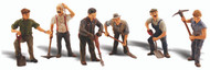 Woodland Scenics O Scale Scenic Accents Figures/People Set Road Crew (6)