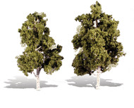 "Woodland Scenics Classic Trees Ready Made Waters Edge 6"" to 7"" Tall 2-Pack"