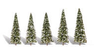 "Woodland Scenics Classic Trees Ready Made Snow Dusted 2"" to 3-1/2"" Tall 5-Pack"