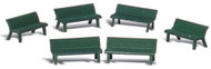 Woodland Scenics O Scale Scenic Accents Figures/People Set Park Benches (6)