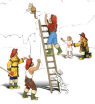 Woodland Scenics N Scale Scenic Accents Figures/People Firemen To The Rescue (4)