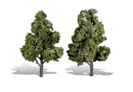 "Woodland Scenics Classic Trees Ready Made Sun Kissed 7"" to 8"" Tall 2-Pack"