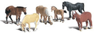 Woodland Scenics N Scale Scenic Accents Figures/Animal Set Farm Horses (6)
