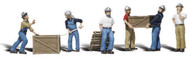 Woodland Scenics O Scale Scenic Accents Figures/People Set Dock Workers (6)