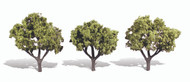 "Woodland Scenics Classic Trees Ready Made Early Light 3"" to 4"" Tall 3-Pack"