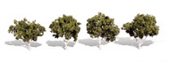 """Woodland Scenics Classic Trees Ready Made Waters Edge 2"""" to 3"""" Tall 4-Pack"""