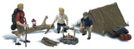 Woodland Scenics O Scale Scenic Accents Figures/People Set Campers & Accessories