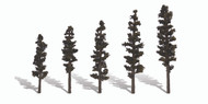 "Woodland Scenics Classic Trees Ready Made Standing Timber 2-1/2"" to 4"" Tall 5-Pk"