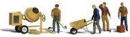 Woodland Scenics O Scale Scenic Accents Figures/People Set Masons & Tools (11)