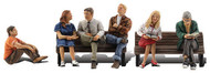 Woodland Scenics O Scale Scenic Accents Figures/People Set People Sitting (6)