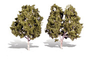 """Woodland Scenics Classic Trees Ready Made Waters Edge 5"""" to 6"""" Tall 2-Pack"""