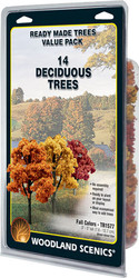 "Woodland Scenics Fall Colors Deciduous Ready Made Trees 3"" to 5"" 14-Pack"