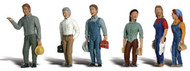Woodland Scenics N Scale Scenic Accents Figures/People Set 2nd Shift Workers (6)