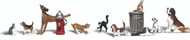 Woodland Scenics O Scale Scenic Accents Figures/Animal Set Dogs & Cats