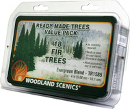 """Woodland Scenics Evergreen/Pine Ready Made Trees 2"""" to 4"""" 18-Pack"""