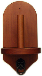 Deluxe HJ Scott Wall Mounted Pool/Billiard Cone Chalk Holder - Mahogany Finish