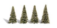 "Woodland Scenics Classic Trees Ready Made Blue Needle 4"" to 6"" Tall 4-Pack"