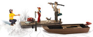 Woodland Scenics O Scale Scenic Accents Figures/People Set Family Fishing