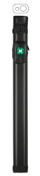 McDermott 1x1 Hard Oval Vinyl Pool/Billiard Cue Case - Black w/Clover
