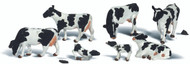 Woodland Scenics O Scale Scenic Accents Figures/Animal Set Holstein Cows (7)