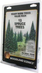 "Woodland Scenics Blue Spruce/Pine Ready Made Trees 4"" to 6"" 13-Pack"