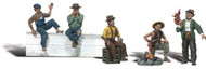 Woodland Scenics O Scale Scenic Accents Figures/People Set Bums/Hobos (5)