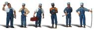 Woodland Scenics O Scale Scenic Accents Figures/People Set Train Mechanics (6)