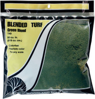 Woodland Scenics Model Railroad Landscape Blended Turf Green (Large Bag)