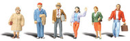 Woodland Scenics O Scale Scenic Accents Figures/People Set General Public (6)