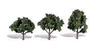 "Woodland Scenics Classic Trees Ready Made Cool Shade 4"" to 5"" Tall 3-Pack"