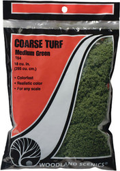 Woodland Scenics Model Railroad Landscape Coarse Turf Medium Green (Small Bag)