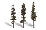"Woodland Scenics Classic Trees Ready Made Standing Timber 7"" to 8"" Tall 3-Pack"
