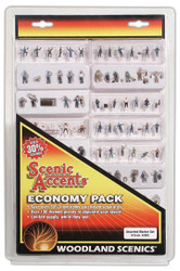 Woodland Scenics N Scale Scenic Accents Figures Economy Assorted Worker (100+)