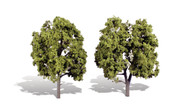 "Woodland Scenics Classic Trees Ready Made Early Light 5"" to 6"" Tall 2-Pack"