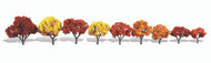 "Woodland Scenics Classic Trees Ready Made Harvest Blaze 1-1/4"" to 3"" Tall 9-Pack"