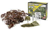 Woodland Scenics Forest Canopy Kit (Bushes, Trees, and Underbrush) Light Green