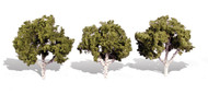 "Woodland Scenics Classic Trees Ready Made Waters Edge 3"" to 4"" Tall 3-Pack"