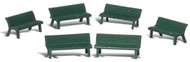 Woodland Scenics N Scale Scenic Accents Detail Set Park Benches (6)