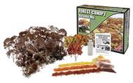 Woodland Scenics Forest Canopy Kit (Bushes, Trees, and Underbrush) Autumn Mix