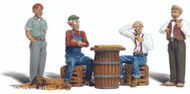 Woodland Scenics N Scale Scenic Accents Figures/People Set Checker Players (6)