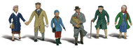 Woodland Scenics N Scale Scenic Accents Figures/People Set Couples in Coats