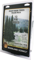 "Woodland Scenics Evergreen/Pine Ready Made Trees 4"" to 6"" 13-Pack"