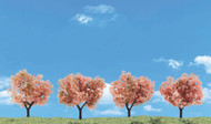 """Woodland Scenics Flowering Trees Classic Ready Made Trees 2"""" to 3"""" 4-Pack"""