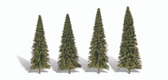 "Woodland Scenics Classic Trees Ready Made Forever Green 4"" to 6"" Tall 4-Pack"