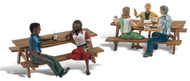 Woodland Scenics N Scale Scenic Accents Figures/People Outdoor Dining Groups (2)