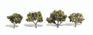 "Woodland Scenics Classic Trees Ready Made Early Light 2"" to 3"" Tall 4-Pack"