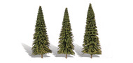 "Woodland Scenics Classic Trees Ready Made Forever Green 7"" to 8"" Tall 3-Pack"