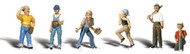 Woodland Scenics N Scale Scenic Accents Figures/People Baseball Players II (6)